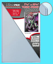"""10 Ultra Pro THICK COMIC BOOK TOPLOADERS NEW 7-1/8""""x10-1/2"""" Protector Storage"""