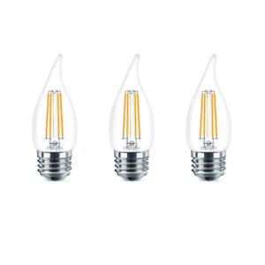 Philips Candle Light Bulb 40-Watt 300 Lumens Dimmable Energy Saving Bent Tip