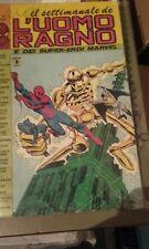 Il settimanale dell'uomo ragno corno numero 41 ..con segni di biro in copertina