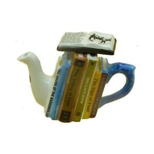 Sherlock Holmes Books Teapot One Cup Carters of Suffolk Birthday Christmas Gift