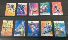 Australian 2000 Australia Olympic set of 10 S/A stamps, used Off Paper