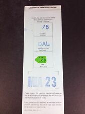 """Braniff International Boarding Pass And Parking Ticket March 23rd. 1971 """"Rare"""""""
