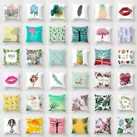 Polyester Plant Throw Pillow Case Pillow Cover Cushion Sofa Cover Home Decor