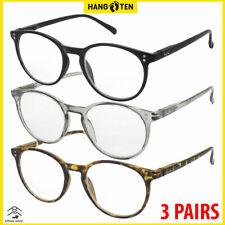 Reading Glasses Mens Womens Readers Spring Hinge 3 pack High Quality Frames New