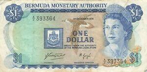 Bermuda 1 Dollar 1976 P-28a