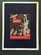 """1950 Denver Chevrolet A.A.U. Basketball """"RARE"""" Media Guide/J.L.PARKS/G.CARPENTER"""