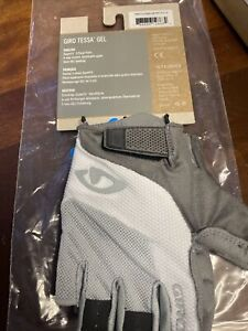 giro tessa gel womens cycling gloves 9 xl gray white