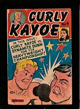 CURLY KAYOE #4  1946 UNITED FEATURES  GOLDEN AGE COMIC BOOK  DYNAMITE DUNN  GD