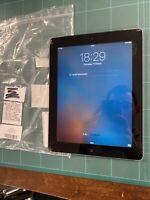 Apple IPAD 2 64gb Zelluläre, Wi-Fi, Schwarz 9.7in Rissig Display Außen Glas