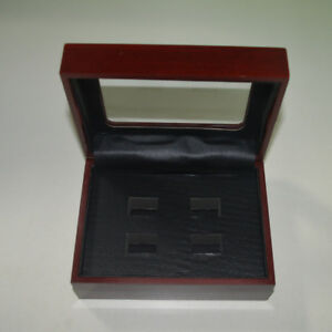 4 Hole Wooden Glass Display Box for  Cup Championship Ring