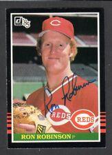 1985 DONRUSS #649 Ron Robinson  CINCINNATI REDS  SIGNED AUTOGRAPH AUTO COA