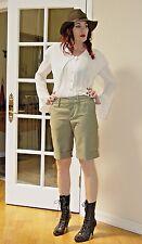 Designer LAMB Gwen Stefani Green CUFFED Walking TROUSER Shorts $189.00
