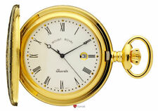 Gold Plated Modern Pocket Watches with Roman Numerals