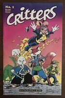 Critters #1 1986 First Printing Original Comic Book Usagi Yojimbo