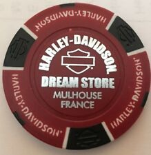 MULHOUSE, FRANCE DREAM STORE HARLEY DAVIDSON FACTORY POKER CHIP (RED & BLACK)