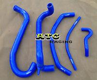 Blue Silicone radiator heater hose for FORD AU FALCON 4.9L V8 INC XR8 1998-2002