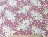 "Genuine Vintage Cotton Floral Feedsack Fabric~L-35"" X W-36"""