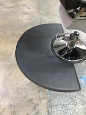 Black Semi Circle 5'x3' Barber Salon Anti Fatigue Floor Mat  (UK SUPPLIER)