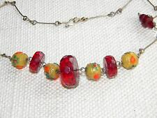 Amber Vintage Costume Necklaces (1960s)