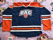 Oklahoma City Barons Okc Edmonton Oilers Hockey Jersey Men's Xl Showcase Printed