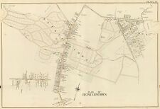 1915 REISTERSTOWN, BALTIMORE, MARYLAND, GLYNDON BASEBALL GROUNDS COPY ATLAS MAP