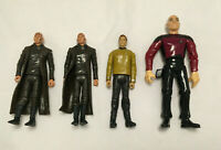 Lot of 4 Star Trek Action Figures - Nero, Jean-Luc Picard, Captain Kirk