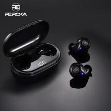 REROKA - Auricolari Cuffie TWS Wireless Bluetooth 5.0 microfono integrato stereo