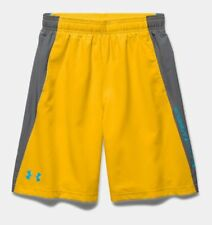 Under Armour UA Kid's Skill Woven Shorts - Yellow - (YMD) 9 -10 Years - New