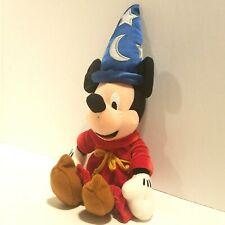 "Walt Disney Plush Fantasia 2000 Sorcerer Mickey Mouse 11"" Stuffed Animal Toy"