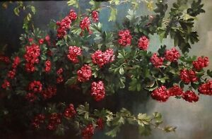Large Early 20th Century French Still Life Of Flowers by Claude Sielens