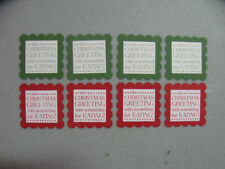 Stampin' Up! Tags Til Christmas Set of 8 Scallop Square Tag Punches