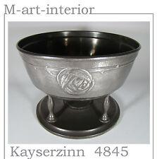 Antike Zinn Anbietschale Hugo Leven Pewter Kayserzinn 4845 Jugendstil um 1900