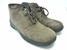 Rieker Wool Lined Brown Suede Lace Up Rieker Anti Stress Tex Ankle Boots UK7/40