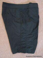 "Lands End Nylon Swim Board Shorts, Womens Sz 6 Zip Front 31x9.5"" Inseam, Black"