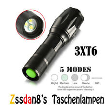 LED Taschenlampen Klein Zoom 5 Modus einstellbare Leuchtstärke Flashlight
