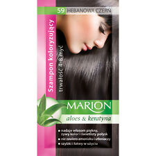Buy 2 Get 1 Marion Hair Color Shampoo Lasting 4-8 Washes No Ammonia 59. Ebony Black