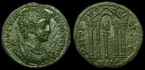 CARACALLA - AE26 Isaura - Cilicia (Tetrastyle temple)
