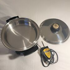Kitchen Craft by West Bend Liquid Core Electric Skillet 900 Watt Pan, Lid & Cord
