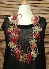 *ZUZA BART*DESIGN LINEN HAND MADE AMAZING BEAUTIFUL DECORATIVE NECKLACE**MULTI**