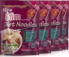 NOW SLIM DIET NOODLES 6 CALORIES, 0 CARBS, 4 x 200g PACKS,SLIMMING KONJAC FOODS