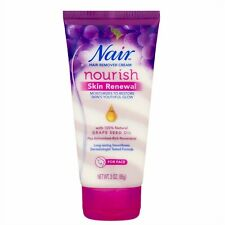Nair Nourish Skin Renewal Hair Remover Cream for Face 3 oz Grape Seed Oil