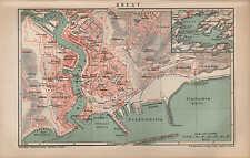 Carte MAP 1896: plan de la ville: Brest. échelle: 1: 16.000