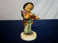 "Hummel Figurine #4. ""Little Fiddler"". TMK-2 Full Bee. 1950-55. Perfect."