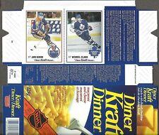 1989-90 Kraft Dinner Box Flat, Oilers' Jari Kurri, Maple Leafs' Wendel Clark
