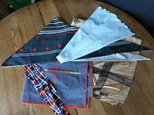 Scarf Scarves Lot of 5 GORGEOUS mixed vintage as is used 70's etc