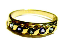 14K Yellow Gold Purple & Green Amethyst Round Band Ring, Size 7, 0.39(TCW), 2.5G