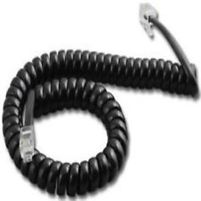 50 Pack of 12ft 12' 12 Foot  Black Handset Receiver Coil Phone Curly Cords