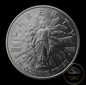 1989 D US Congress Commemorative 90% Silver Dollar BU Unc Beauty~GEM+++