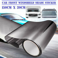 Black Car Window Sun Visor Sticker PVC Windshield Banner Decal DIY Strip AU --