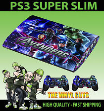 PLAYSTATION PS3 SUPER SLIM AVENGERS ASSEMBLE 003 SKIN STICKER & 2 PAD SKINS